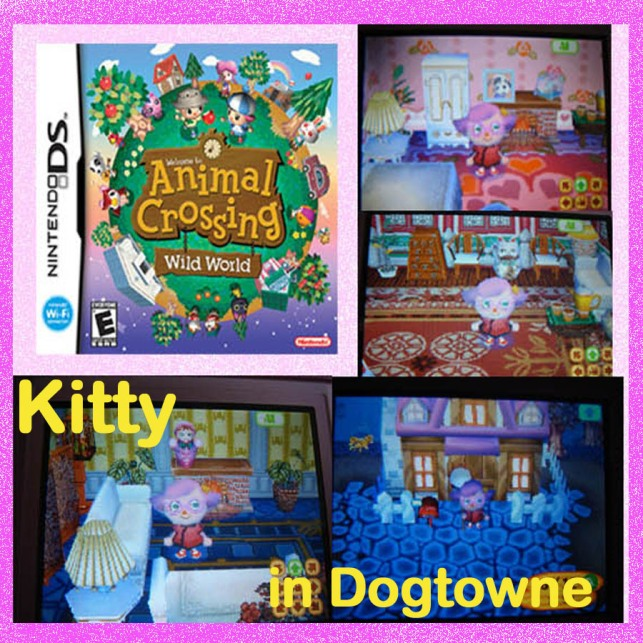 Animal Crossing Screen Shots- Kitty in Dogtowne