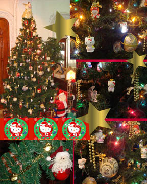 details of our homemade christmas tree