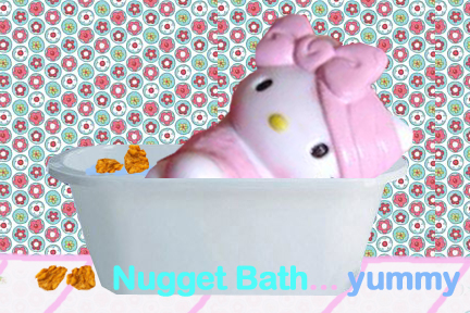 Bathing with nuggets