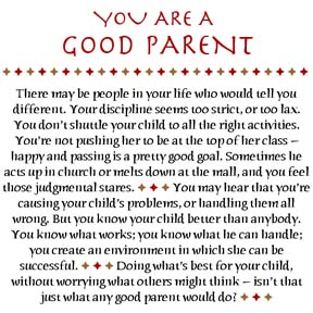 You are a good parent