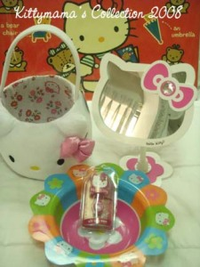 Hello Kitty vanity mirror, basket and wow freebies
